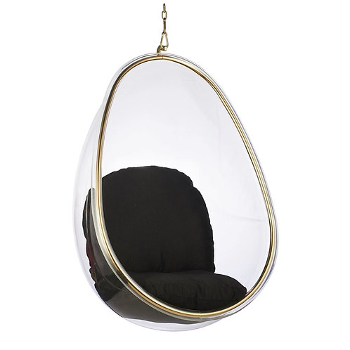 Egg Chair Swing (Gold Frame)