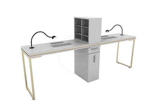 Venus Gold Double Manicure Table