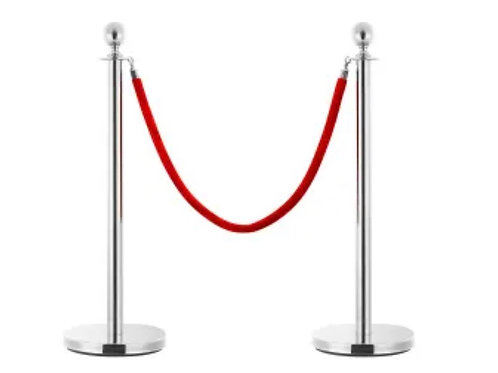 Queue Barrier Stand Silver