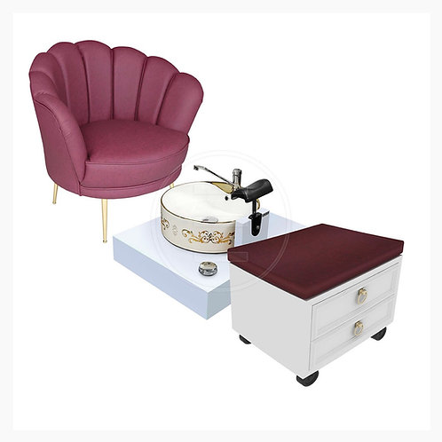 Pearl Spa Station with stool