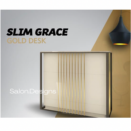 Gold Reception Desk