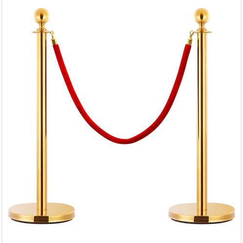 Queue Barrier Stand Gold