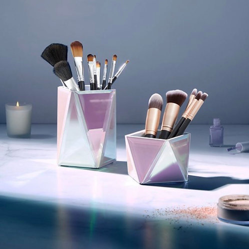 Holographic Makeup Brush Holders