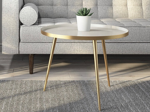 Gold & Taupe Coffee Table