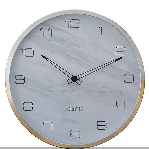 Wall Clock With Silver / Gold Frame