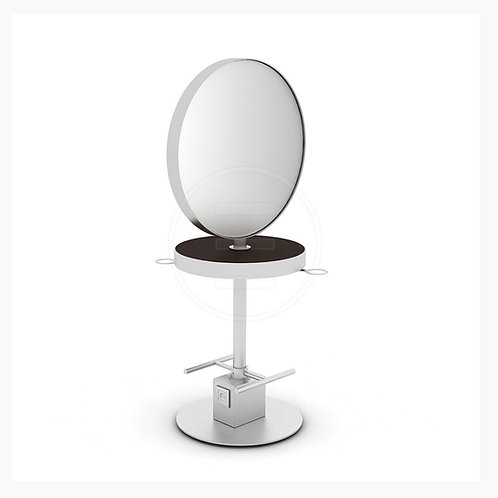 Round Chrome Island Double Sided Stand