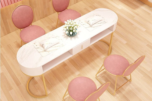 Curved Manicure Table set 2 seater