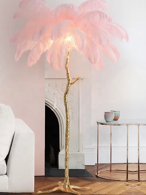 Eva Ostrich Feather Floor Lamp (35 feathers) 1.65m