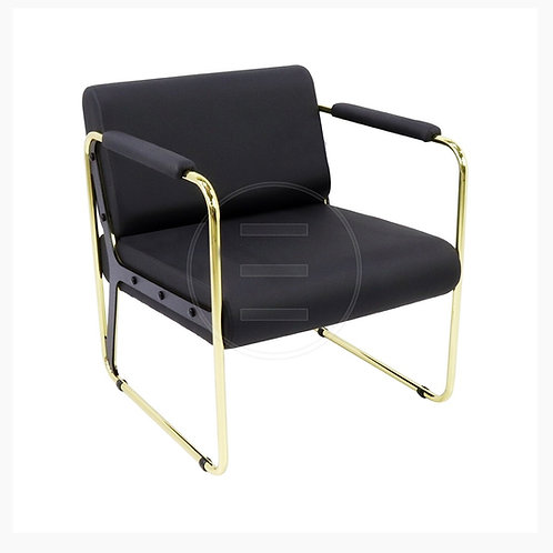 Round Lounge Gold Waiting Chair