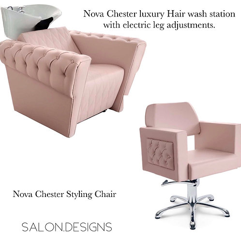 Nova Chester luxury wash unit and Styling chair Package
