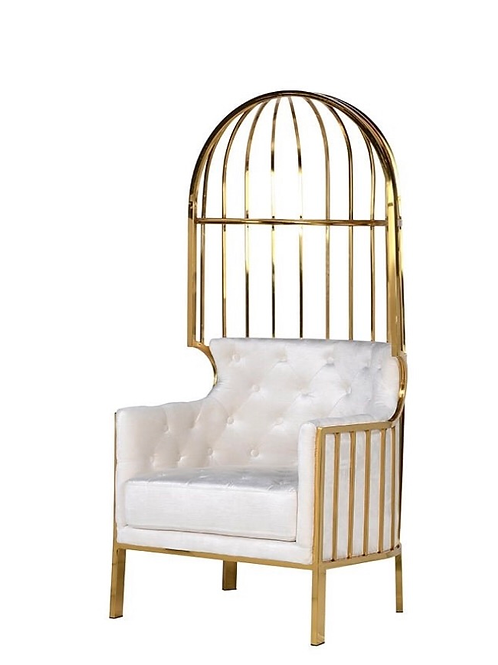 Gold Full Seat Caged Porter Chair
