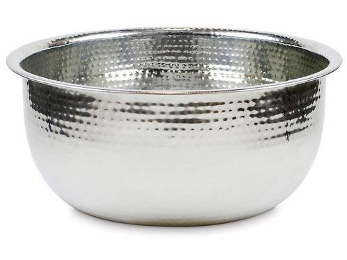 Silver Hammered Pedicure Bowl