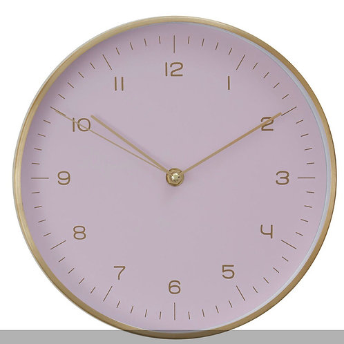 Gold / Pink Finish Wall Clock
