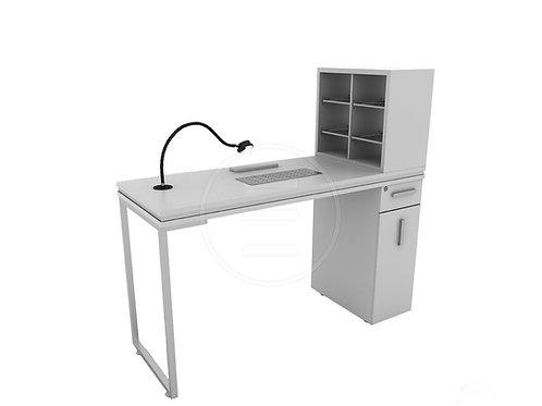 Venus Silver Single Manicure Table