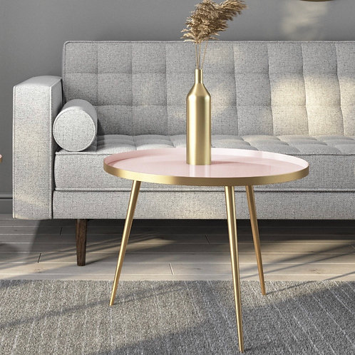 Pink & Gold Coffee Table