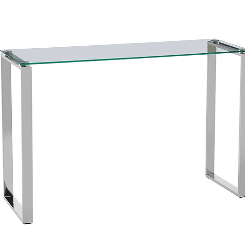 Glass top & Silver Manicure Table