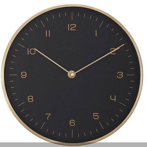 Gold / Black Finish Wall Clock