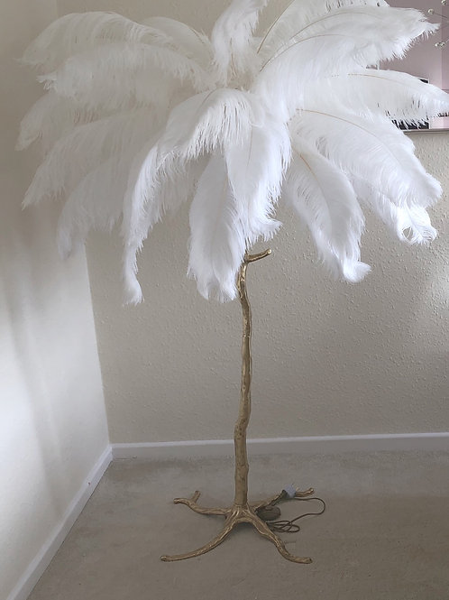 Eva Ostrich Feather Floor Lamp (50 feathers) 2 meter