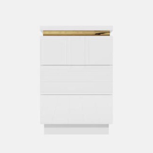 White Gloss Small Bedside Draw