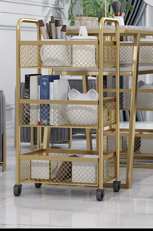 Luxury Gold Wire Metal Trolley