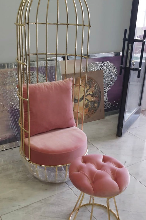 Birdcage Pedicure chair & Stool