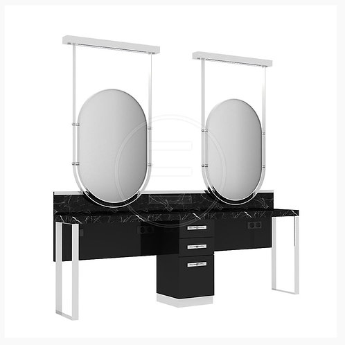 Marble Oval Double Unit Station