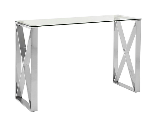 Boutique Glass top & Silver manicure Table