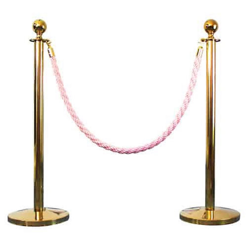 Queue Barrier Stand Gold +Red & Pink Rope