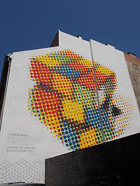 Rubik's_Cube_on_the_wall._-_Budapest_Dis