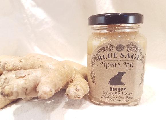 Ginger Infused Raw Honey