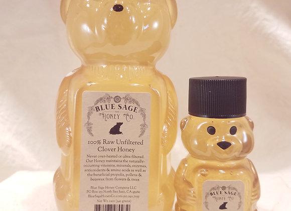 Raw Clover Honey Bear