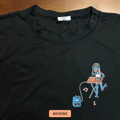 COMPONENT BAND T-SHIRT - BLACK (WICKING)