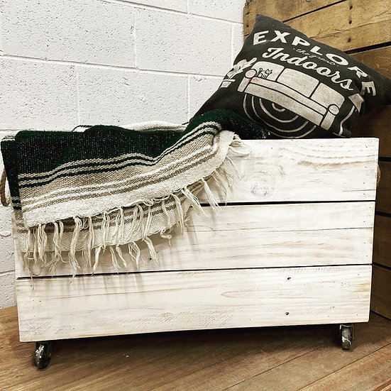 Farmhouse Blanket Bin