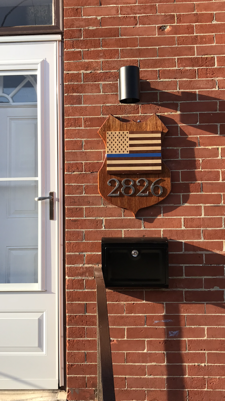 Address badge Plaque