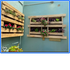 Planter box pallets