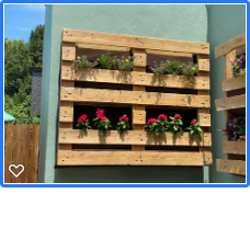 Pallet wall planter box
