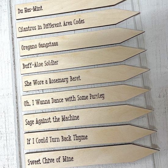 Punny Herb Markers