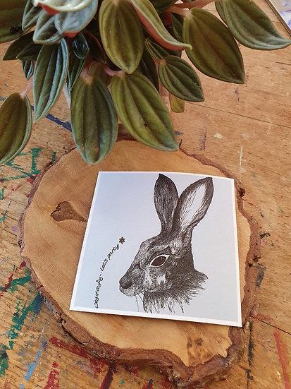 Spring Hare Large Magnet