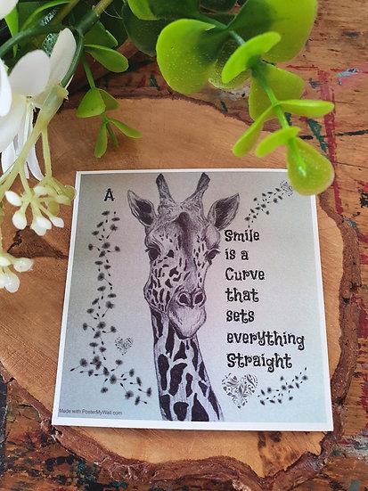 Giraffe Smiles Large Magnet