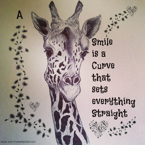 Giraffe Smiles Mug