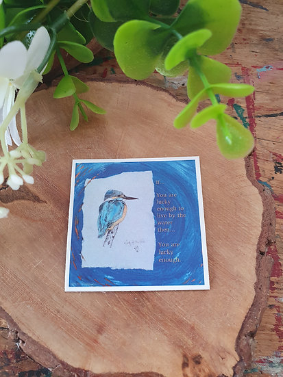 Kingfisher Lucky Large Magnet