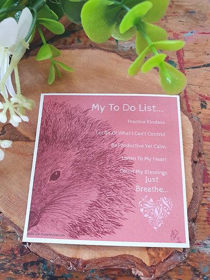 Hedgehog To Do Large Magnet