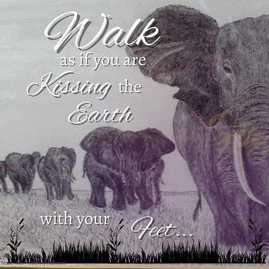 Elephants Walking Mug
