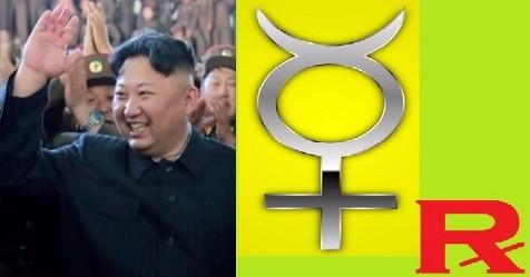 北韓領袖金正恩和水星逆行