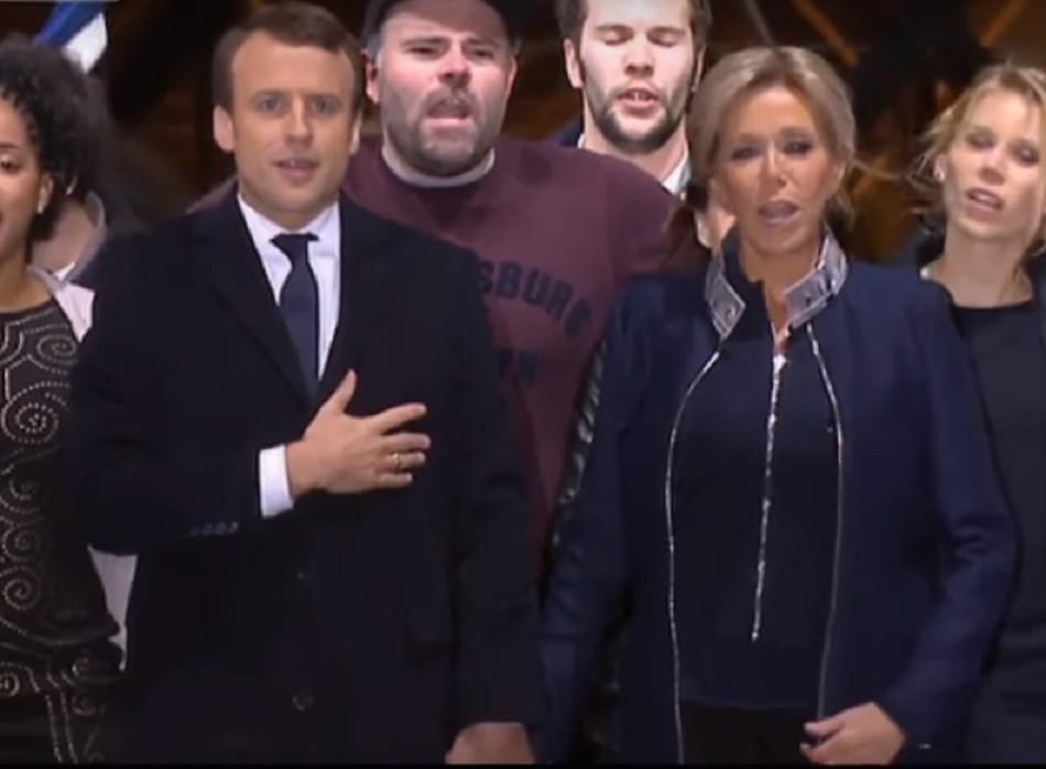 馬克龍 (Emmanuel Macron) 和太太Brigitte Trogneux