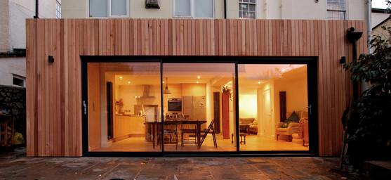 Cedar clad extension in Bristol