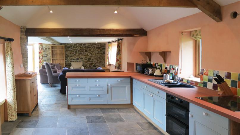 Interior architectural photo of barn conversion in Devon