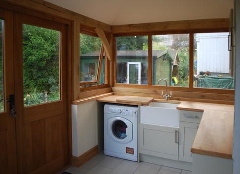 Oak framed extension