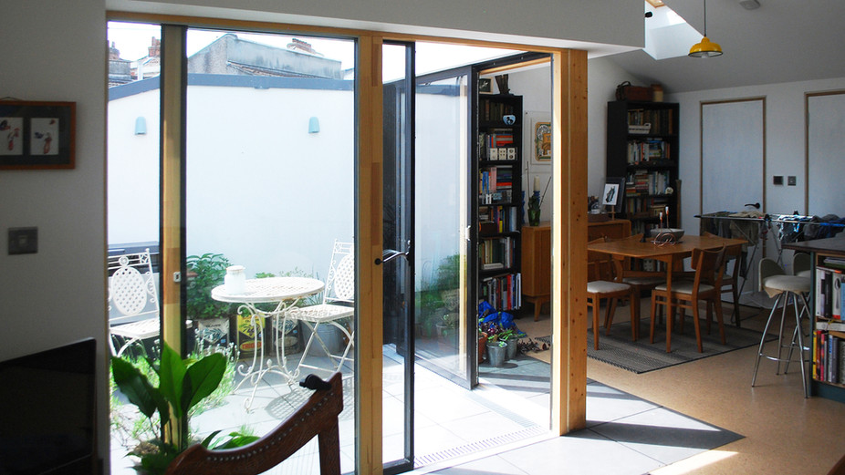 Photograph of architectural project - eco house in Bristol