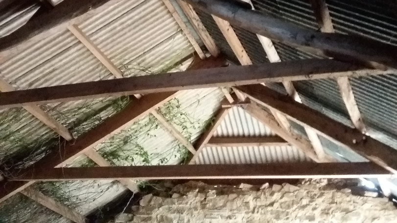 existing roof structure